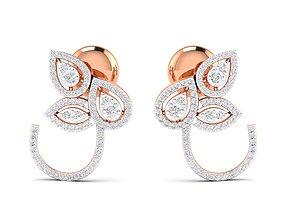 long-earrings Women earrings 3dm stl render detail