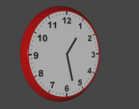 3D model VR / AR ready Simple Clock