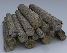 Wood Logs 3D asset low-poly