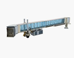 departure 3D Airport Terminal Jetway Bridge lowpoly