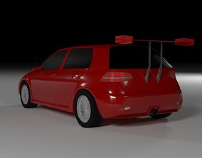 Modified Volkswagen golf for mobile games 3D model