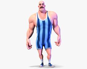 Stylized Rigged Athlete Man 3D model