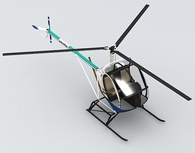 3D Schweizer 300 Helicopter