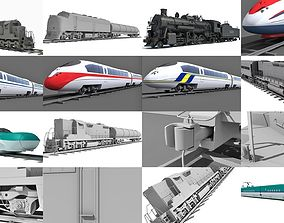 10 Train Collection 3D Models