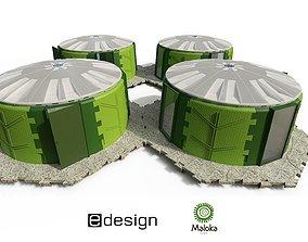 Maloka temporary shelter 3D model