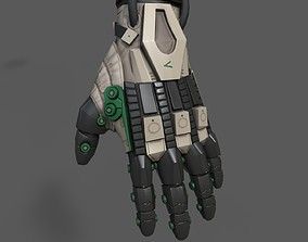 Scifi glove warior ver 2 3D asset PBR