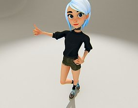 Stylized Girl 3D asset