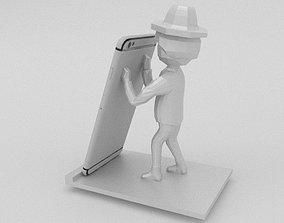 Decorative Phone Holder Figure 3D printable model