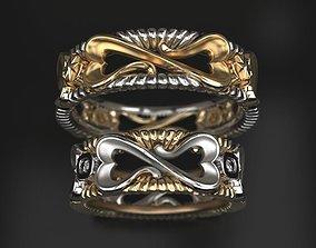 3D print model Infinity love wedding rings - original