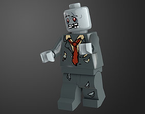 3D asset Zombie Lego Character Game Ready PBR