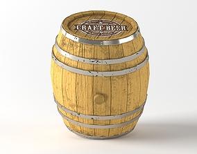 Old wooden barrel house 3D
