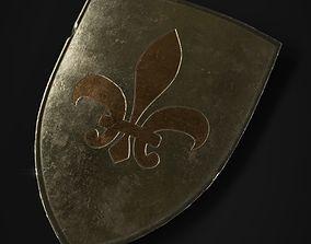 Medieval Metal Shield 3D asset