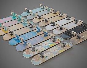 3D model Realistic skateboard