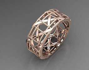 3D print model interlaced ring jewelry-platinum