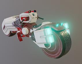 3D Futuristic Sci Fi Speeder