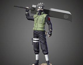 Kakashi Hatake and Sword 3D print model