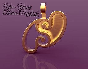 Yin-Yang Hearts Pendant 3D print model
