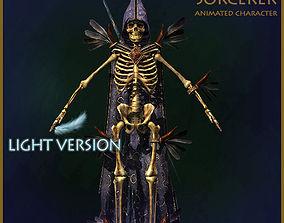 Skeleton Sorcerer Light Version 3D model