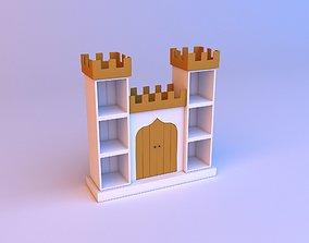 3D model Childrens bookshelf