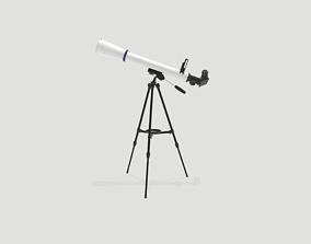 Telescope 3D asset VR / AR ready PBR
