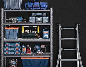 garage tools set 14 3D asset