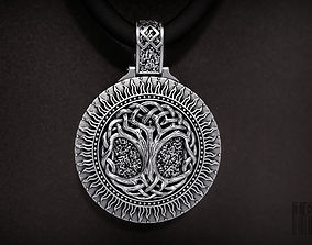 pendant tree of life Yggdrasil 3D printable model