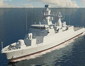 3D Braunschweig-class corvette