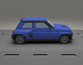 Renault 5 Turbo from 1982 3D asset