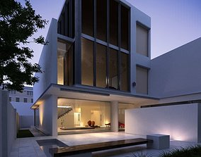 3D model Modern Three Floor House