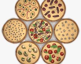 Assorted Pizza Set 3D