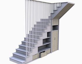 VR / AR ready Modern Cabinet Stair Model