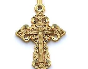 3D print model Gold Cross Pendant