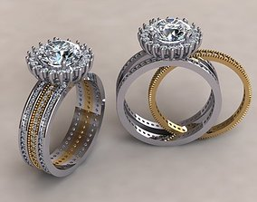 fashion Fashion ring 3D printable model
