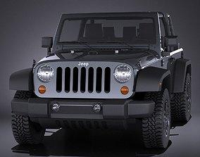 Jeep Wrangler Willis Wheeler 2016 VRAY 3D model