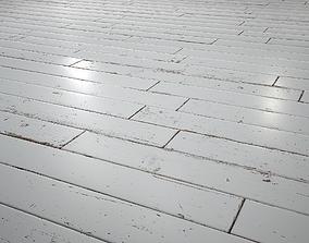 3D White Painted woodstrip parquet - PBR textures