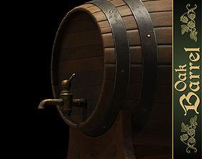 3D model Oak Barrel
