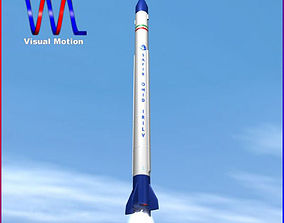 Safir Space Launch Vehicle 3D