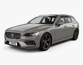 3D model Volvo V60 T6 Inscription 2018