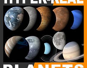 Hyper-Real Planets Pack v2 3D