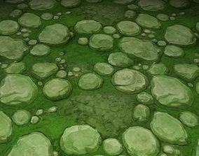 ground stone grass tile 09 3D