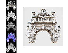 3D asset Luxurious Door Decoration
