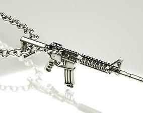 military Assault rifle pendant 3D printable model
