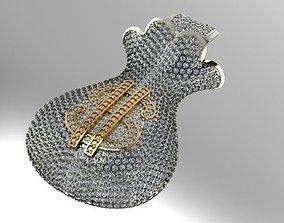 3D print model money bag pendant