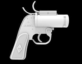 military AN-M8 Flare Gun High Poly Model