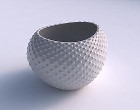 Bowl compressed 2 with grid piramides 3D print model