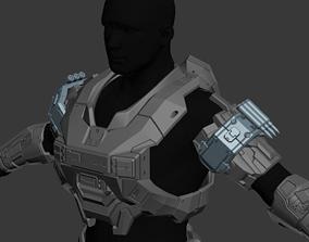 Reach Sniper Shoulder Wearable 3D Print Model