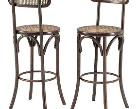 Thonet Style Bar Stool 3D model