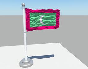 Maldives flag 3D model