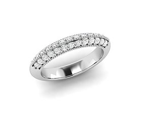 band stone rings 3D printable model