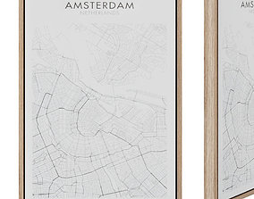 Uptown painting 50 x 70 cm Amsterdam 3D asset game-ready